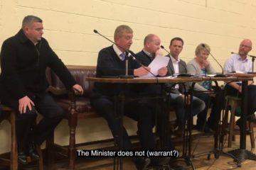 Irish Politicians get an Unexpected Response at Town Meeting